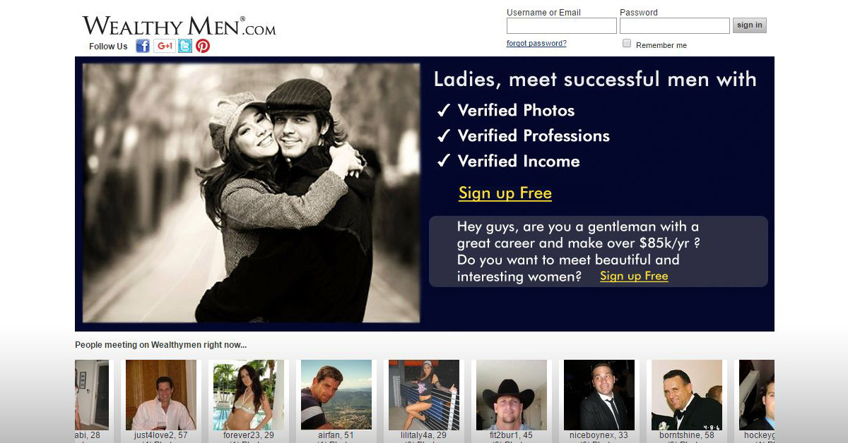 Dating sites for wealthy men