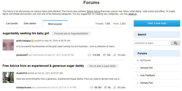Forums of SugarDaddyMeet