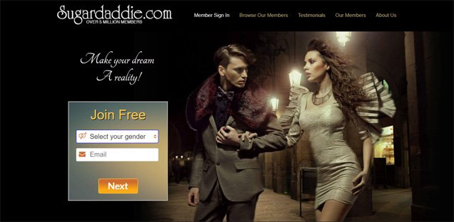 Sugar Daddie Homepage