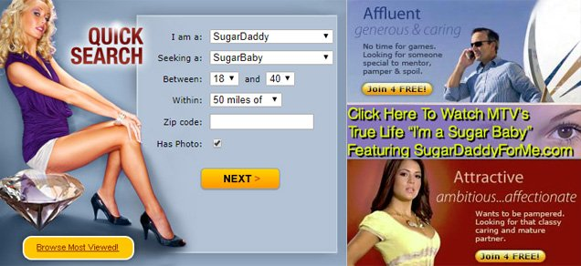 Sugar Daddy For Me Homepage