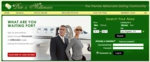 Date A Millionaire Homepage
