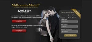 Millionaire Match Homepage